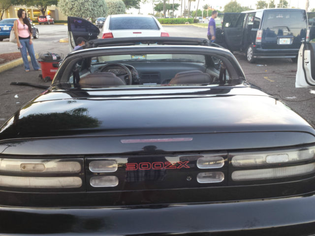 nissan 300zx convertible 1993 black for sale. Black Bedroom Furniture Sets. Home Design Ideas
