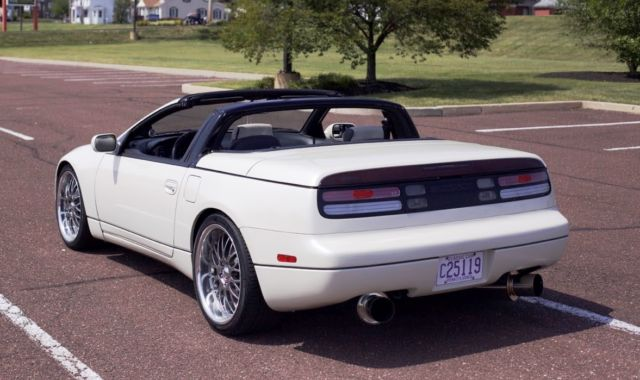 nissan 300zx convertible 1993 white for sale jn1rz27h4px003234 1993 nissan 300zx twin turbo. Black Bedroom Furniture Sets. Home Design Ideas