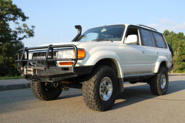 Lovely Toyota Land Cruiser SUV 1993 White For Sale. JT3DJ81W1P0025407 1993 Toyota  Land Cruiser Turbo Diesel 5 Speed Expedition Rig