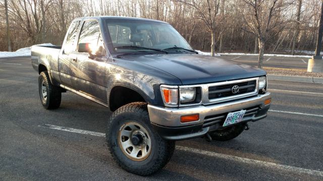 Toyota Tacoma Extended Cab Pickup 1993 Blue For Sale