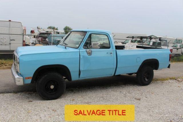 Dodge Ram 1500 Pickup Truck 1993 Blue For Sale