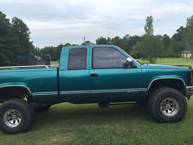 chevrolet silverado 1500 extended cab pickup 1994 green for sale 2gbek19k2r1232759 1994. Black Bedroom Furniture Sets. Home Design Ideas
