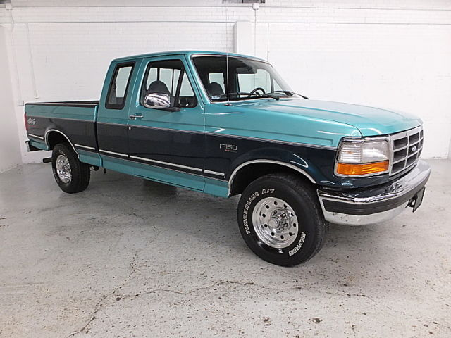 ford f 150 pickup truck 1994 green for sale. Black Bedroom Furniture Sets. Home Design Ideas