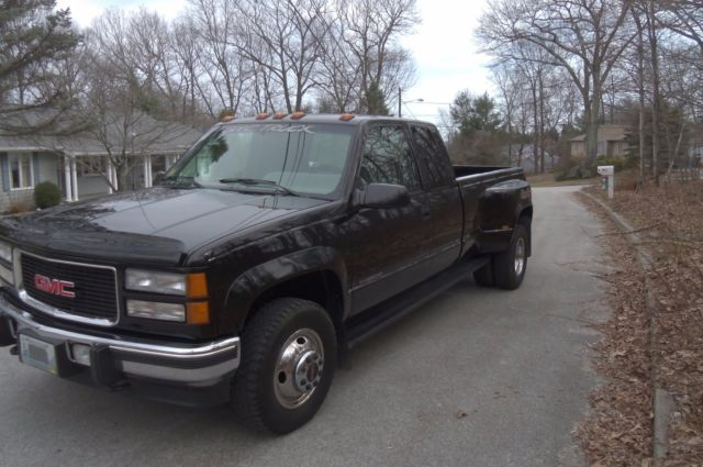 GMC 3500 SLE Extended Cab Pickup 1994 BLACK For Sale