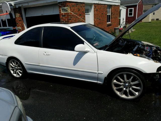 Honda Civic Coupe 1994 White For Sale 1hgej1135rc007038 1994 Honda