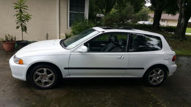 honda civic hatchback 1994 white for sale. Black Bedroom Furniture Sets. Home Design Ideas