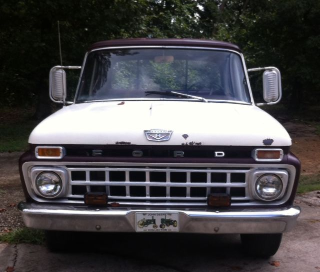 Ford F   For Sale Fdn  Toned Burgundy And White Good Condition  Speed Manual Transmission