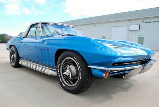 Chevrolet Corvette Convertible 1966 Nassua Blue For Sale