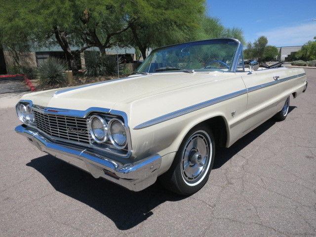 chevrolet impala convertible 1964 desert beige for sale 41467j311910 327ci 250hp auto original. Black Bedroom Furniture Sets. Home Design Ideas