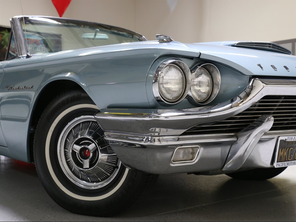 Ford Thunderbird Convertible 1964 Silver For Sale 4y85z191197 390ci Power Steering