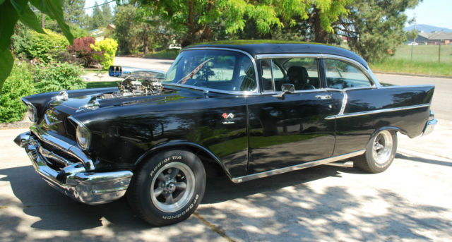 chevrolet bel air 150 210 2 door sedan 1957 black for sale a57a181286 57 chevy 150 2dr sedan. Black Bedroom Furniture Sets. Home Design Ideas