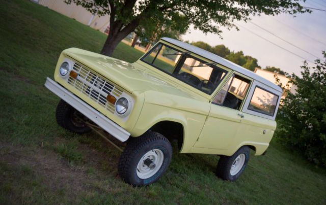 Ford Bronco U K 1966 Yellow For Sale U151fl833048 66 Ford
