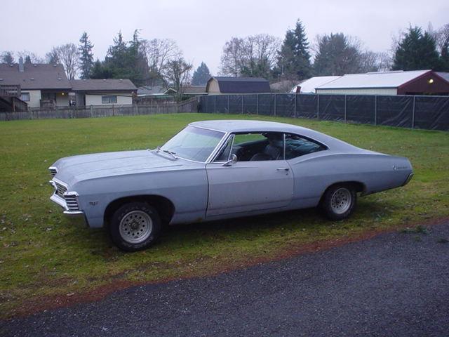 Chevrolet Impala Fastback 1967 Primer Grey For Sale. 67 Chevy Impala 2 door hardtop fastback