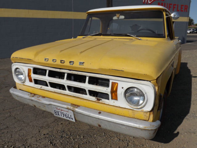 Dodge Other Pickups Truck 1968 Yellow For Sale. Clear and ...