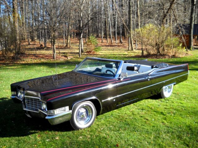 Cadillac DeVille Convertible 1969 Black For Sale. [xfgiven_vin ...
