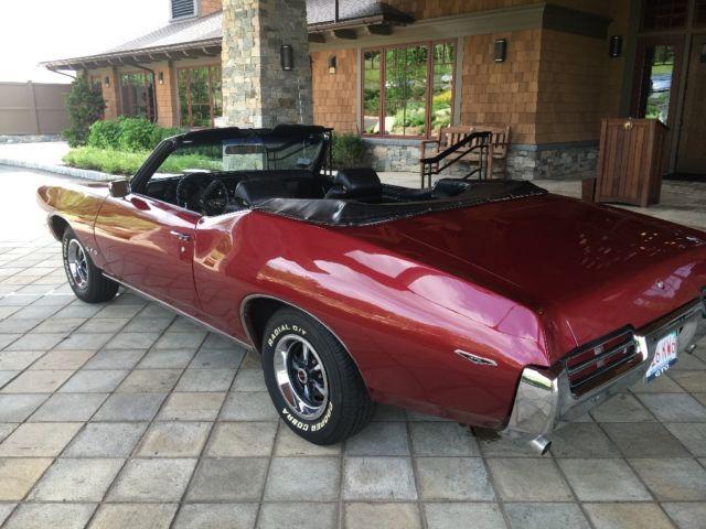 pontiac gto convertible 1969 burgundy for sale 242679b124584 69 gto