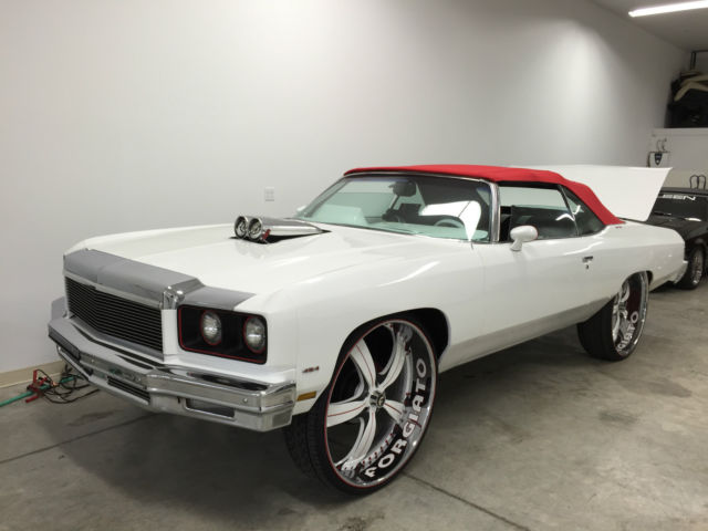Chevrolet Caprice Convertible 1975 White For Sale  1975DONK 75 DONK