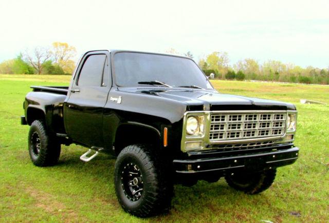 chevrolet c k pickup 1500 truck swb single cab 1978 black for sale tlkl148f736051 78 gmc k15. Black Bedroom Furniture Sets. Home Design Ideas