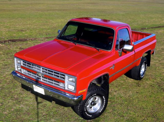 chevrolet silverado 1500 standard cab pickup 1985 red for sale 1gcek14h3fs128395 84k miles. Black Bedroom Furniture Sets. Home Design Ideas
