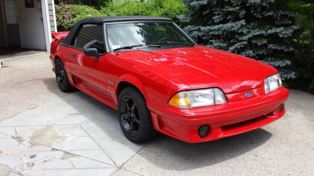 ford mustang convertible 1990 red for sale 1facp45e5lf207320 87 88 89 90 91 92 93 ford mustang. Black Bedroom Furniture Sets. Home Design Ideas