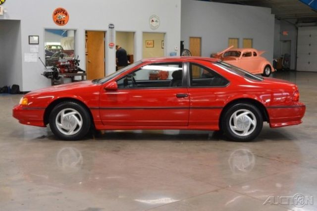 Ford Thunderbird Coupe 1990 Red For Sale 1fapp64rxlh155575 90 Ford