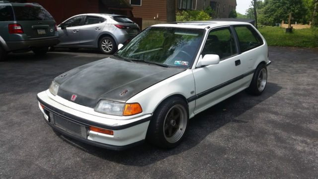 Honda Civic Hatchback 1990 White For Sale