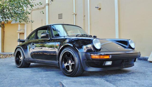 Porsche 930 Coupe 1987 Black For Sale Wp0jb0938hs050625