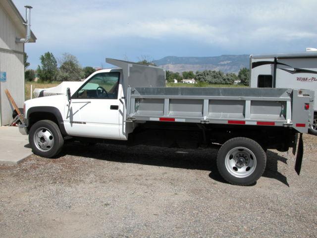 Chevy 3500 Dump : Chevrolet c k pickup dump truck yd white for