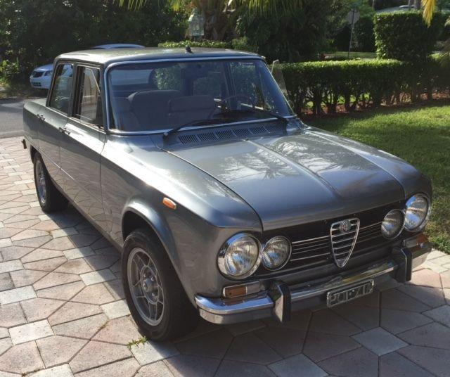 Alfa Romeo Giulia Super 4 Door 1972 Gray For Sale. 2281712