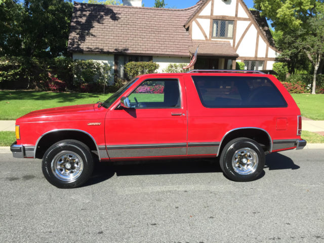 GMC Jimmy SUV 1985 Red For Sale  1G5CS18B1F8506439 AMAZING 1 OWNER