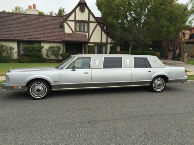 Lincoln Town Car Limousine 1987 Silver For Sale 1lnbm81f4hy686664