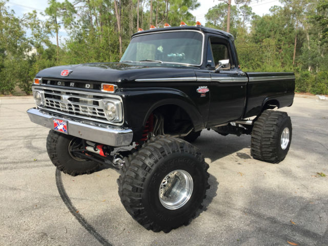 ford f 350 monster truck 1966 black for sale armed dangerous 1966 ford f100 1 ton show truck. Black Bedroom Furniture Sets. Home Design Ideas