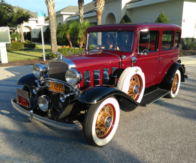 Chevrolet other sedan 1932 burgundy for sale xfgiven vin for 1932 chevy 4 door sedan