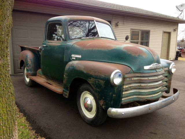chevrolet other pickups pickup 1950 green for sale barn find 1950 chevrolet 3100 1 2 ton pickup. Black Bedroom Furniture Sets. Home Design Ideas