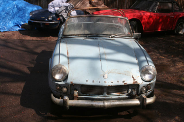 triumph spitfire convertible 1964 blue for sale. fc21823l barn