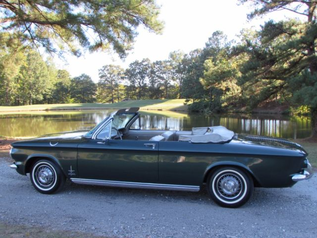 Chevrolet Corvair Convertible 1963 Ivy Green For 30967w260336 Beautiful Spyder No Reserve