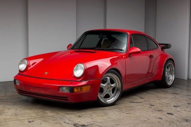 porsche 911 coupe 1991 red for sale wp0aa2968ms480187 beautiful red on tan 964 turbo speedline. Black Bedroom Furniture Sets. Home Design Ideas