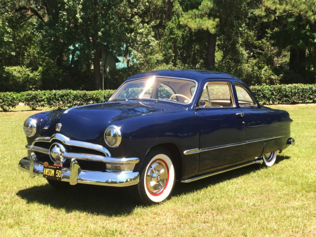ford other coupe 1950 sheridan blue for sale beautiful restored 1950 ford club coupe 1951 1952. Black Bedroom Furniture Sets. Home Design Ideas