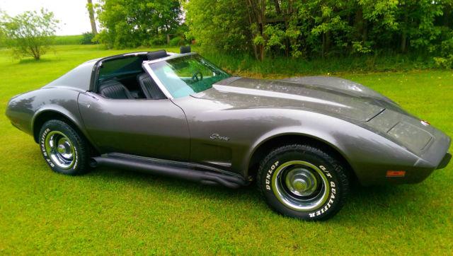 chevrolet corvette coupe 1976 gray for sale 1z37l6s400168 beautiful t top 1976 corvette. Black Bedroom Furniture Sets. Home Design Ideas