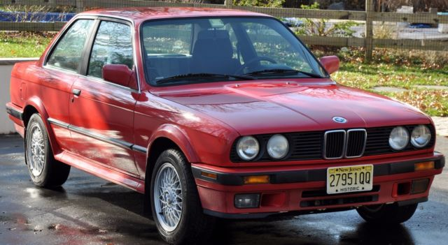 BMW 3Series Coupe 1990 Red For Sale WBAAB9310LED05156 BMW 1990