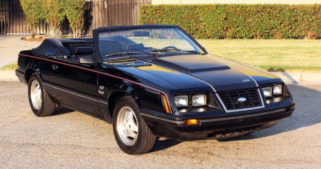 ford mustang convertible 1983 black for sale 1fabp27f8df213636 california original 1983 ford. Black Bedroom Furniture Sets. Home Design Ideas