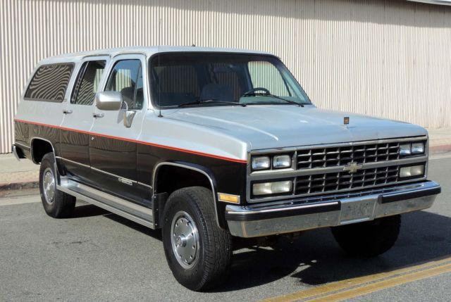 chevrolet suburban suv 1989 silver black for sale 1gngv26k5kf166686 1995 Chevy Suburban california original, 1989 chevy suburban 2500 4x4, 73k orig miles, rust free, a