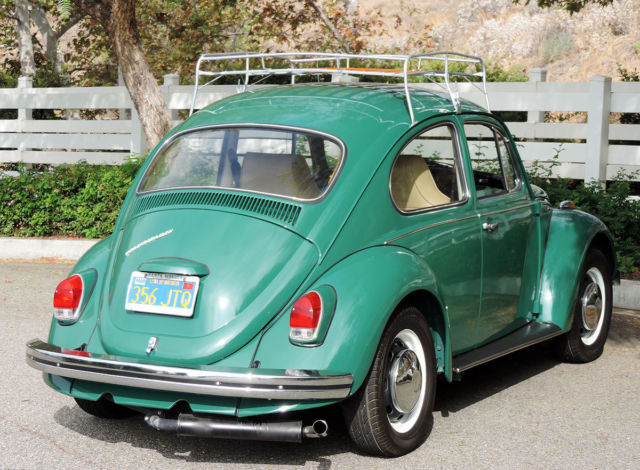 volkswagen beetle classic coupe  green  sale california original  owner fully