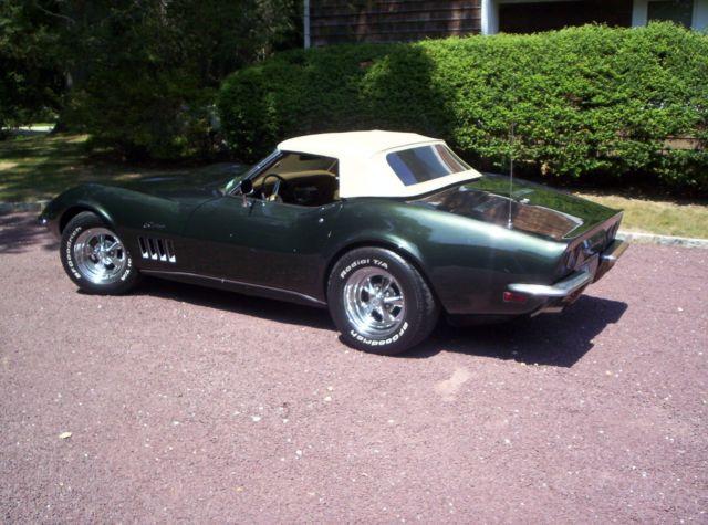 chevrolet corvette convertible 1969 green for sale 194679s733470 chevrolet corvette 1969 stingray. Black Bedroom Furniture Sets. Home Design Ideas