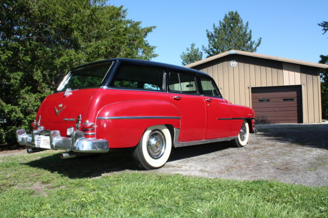 chrysler town country wagon 1953 red and black for sale 76567264 chrysler town and country. Black Bedroom Furniture Sets. Home Design Ideas