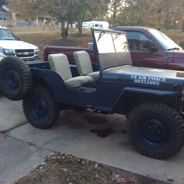 Willys CJ 1950 Blue For Sale. Cj2a Jeep