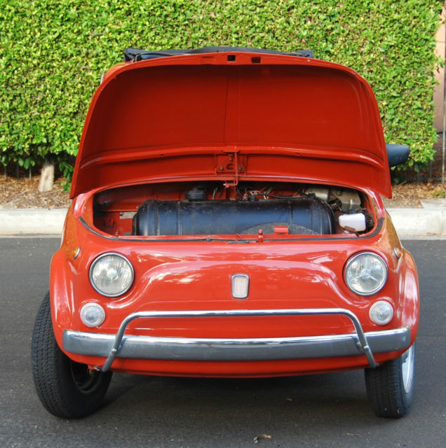 Fiat 500 Coupe 1969 Red For Sale. 110F2210471 Classic 1968