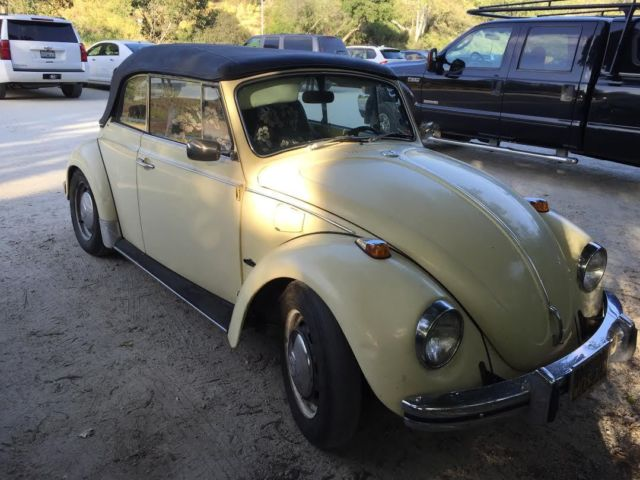 volkswagen beetle classic bug 1968 yellow for sale 158397360 classic 1968 vw bug convertible. Black Bedroom Furniture Sets. Home Design Ideas