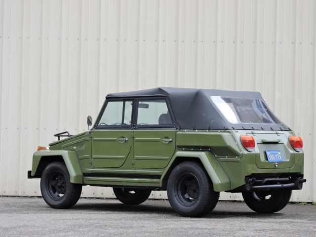 Volkswagen thing convertible 1974 green for sale 1842 for Used tow motors for sale