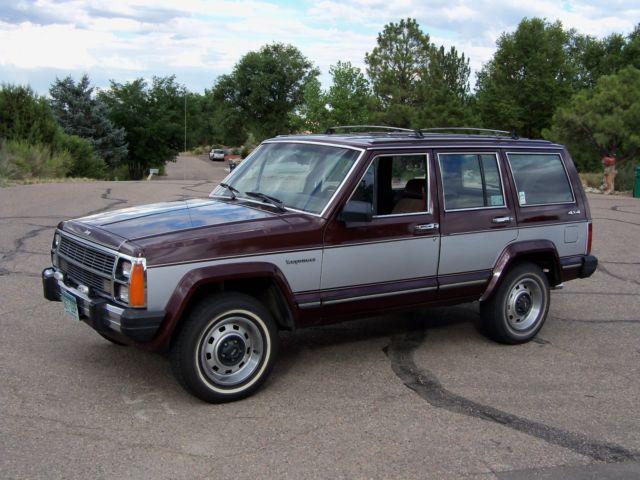jeep cherokee wagon 1987 burgundy for sale 1jcmr7516ht049049 classic jeep cherokee wagoneer. Black Bedroom Furniture Sets. Home Design Ideas